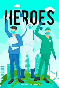 Médicos usando máscaras médicas