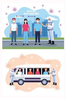 Médicos, verificar a temperatura no ônibus