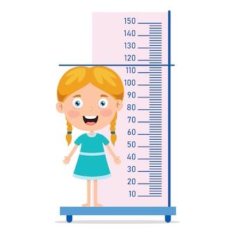 Medida de altura para crianças pequenas