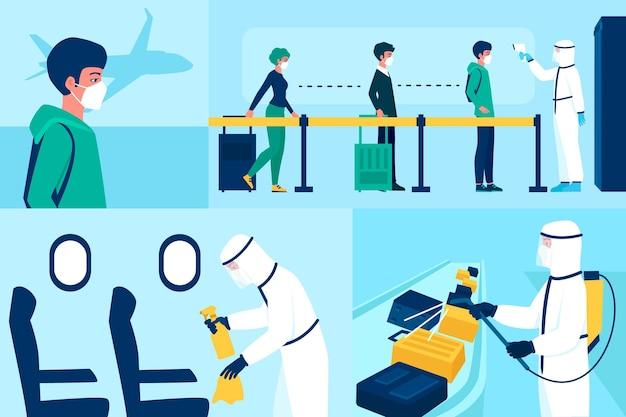 Medidas preventivas de desinfecção de aeroportos