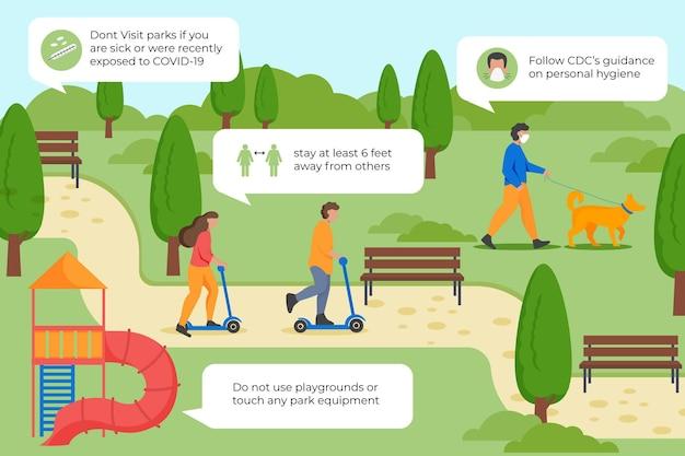 Medidas preventivas do parque