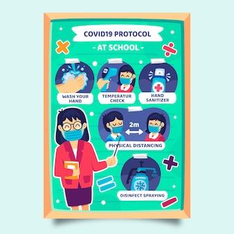 Medidas preventivas na escola - pôster