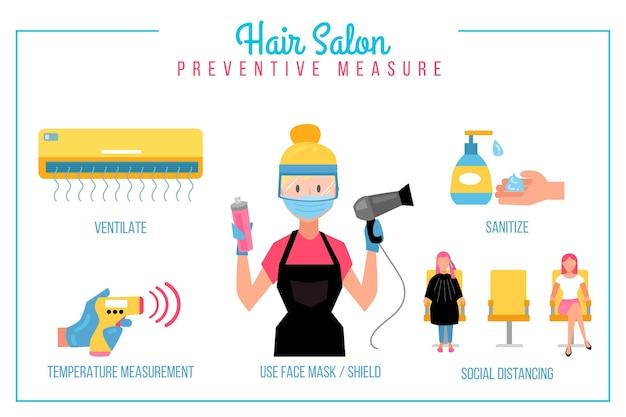 Medidas preventivas para salão de cabeleireiro