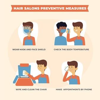 Medidas preventivas para salões de beleza