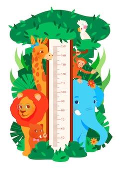 Medidor de altura de desenho animado