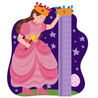 Medidor de altura de desenho para crianças