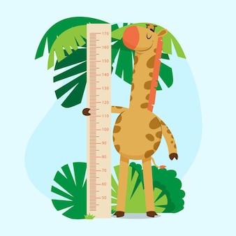 Medidor de altura ilustrado em desenho animado