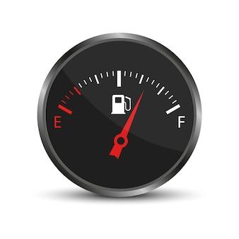 Medidor de combustível. medidor de indicador de combustível do carro.