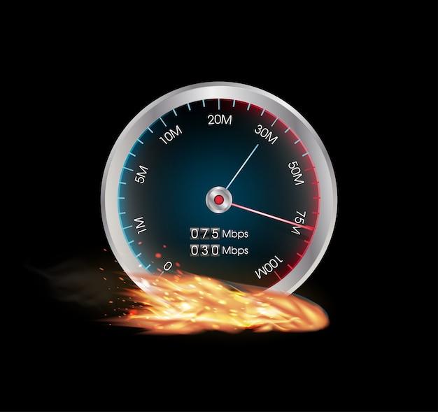 Medidor de teste de velocidade de internet