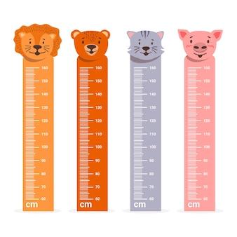 Medidores de altura de design plano
