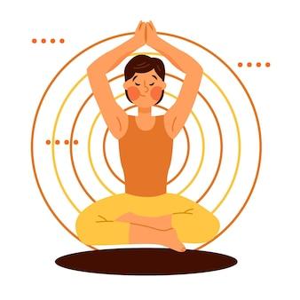 Meditação de ilustração