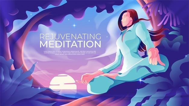 Meditação rejuvenescedora