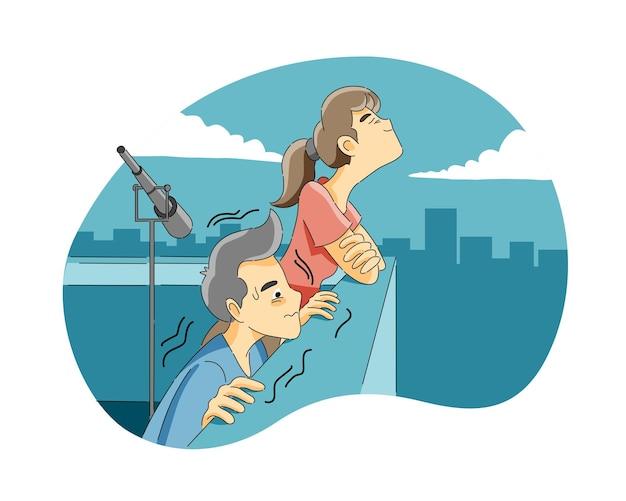 Medo de altura ou acrofobia
