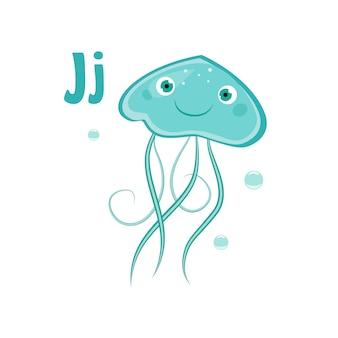 Medusa. alfabeto engraçado, animal