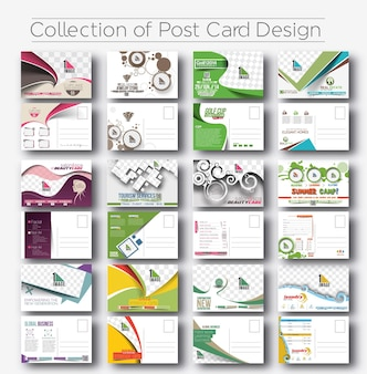 Mega coleção de design de cartão postal para pacote de convite de abertura