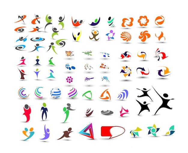 Mega coleção de design de logotipo vetorial