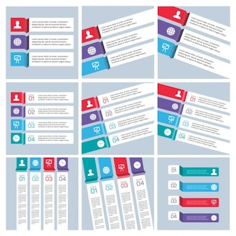 Mega coleção de infographic modelos de negócios
