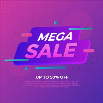 Mega mega promoção banner de venda