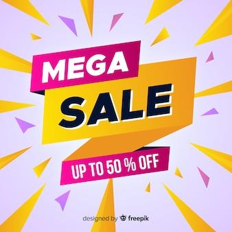Mega promoção de venda abstrata