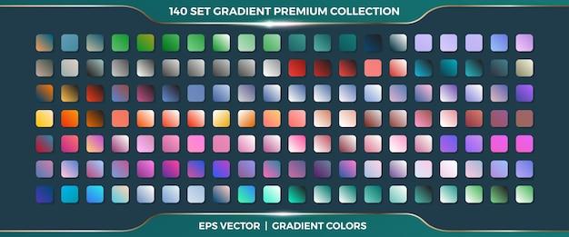 Mega set coleção de combinações de paletas de gradientes suaves