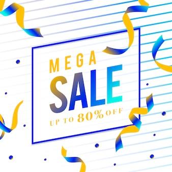 Mega venda 80% de desconto sinal vector