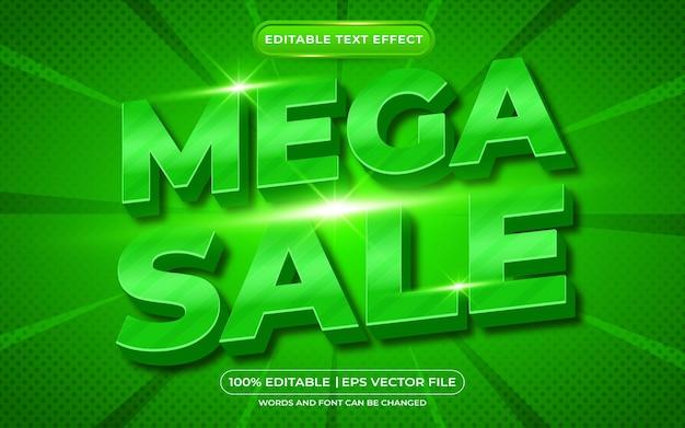 Mega venda de efeito de texto editável