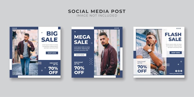 Mega venda de mídia social e modelo de postagem no instagram