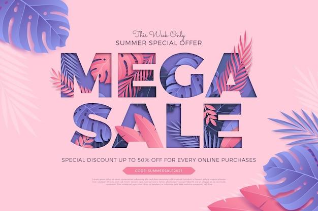Mega venda de oferta especial de verão