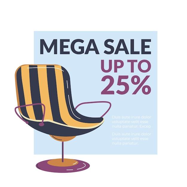 Mega venda em loja de móveis de até por cento