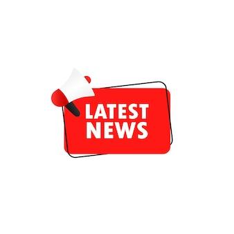 Megafone com as últimas notícias em discurso bolha