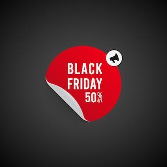 Megafone de venda da black friday.