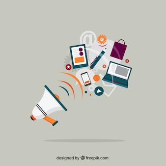 Megafone e negócio de equipamentos