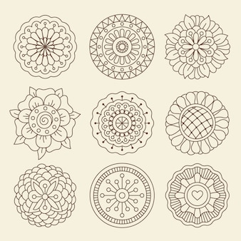 Mehndi indian henna tatuagem flores