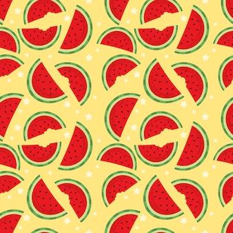 Meia melancia padrão sem emenda