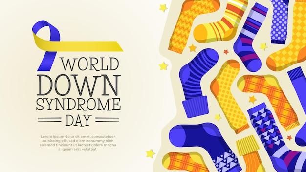 Meias do dia mundial da síndrome de down