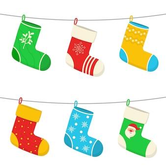 Meias meias de natal adesivos de design de ano novo para o natal pendurados presentes de decorações de natal