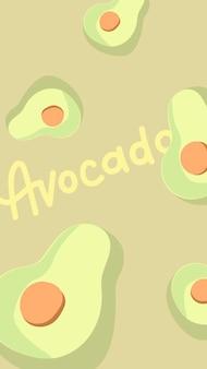Meio fundo de abacates
