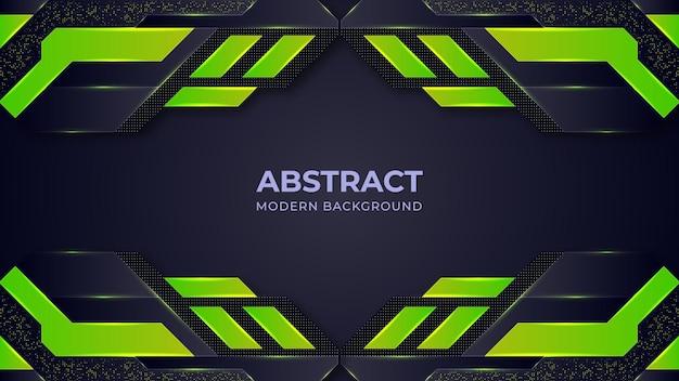 Meio-tom abstrato verde e fundo moderno