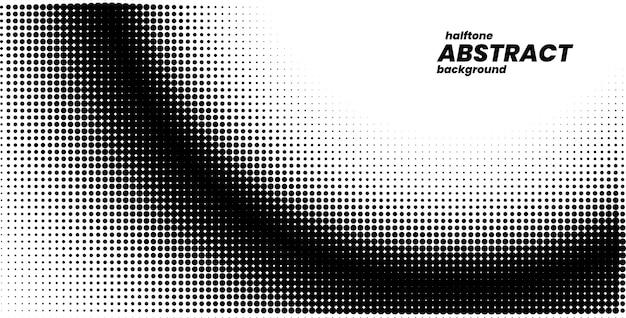 Meio-tom em estilo abstrato. fundo branco e preto.