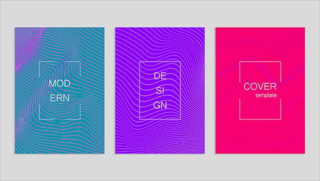 Meio-tom mínimo vetor abstrato abrange o design. modelo geométrico futuro.