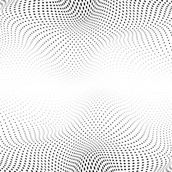 Meio-tom ondulado preto no vetor de fundo branco