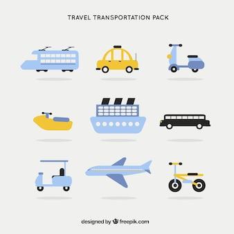 Meios de transporte pacote