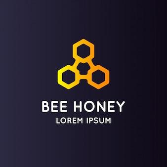 Mel de abelha de logotipo.