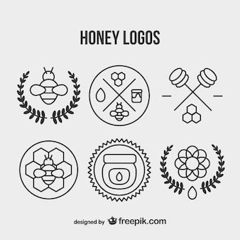 Mel set logotipo do vintage