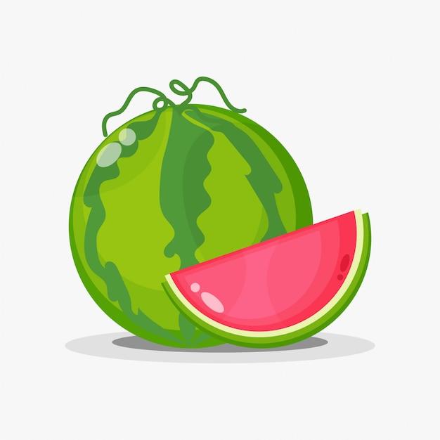 Melancia e fatias de melancia