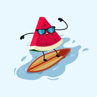 Melancia fofa no surf