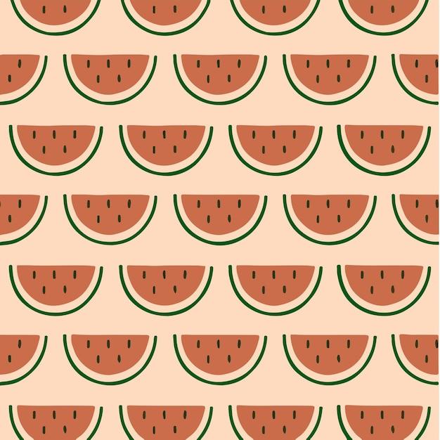 Melancia padrão de fundo mídia social postar ilustração vetorial de frutas