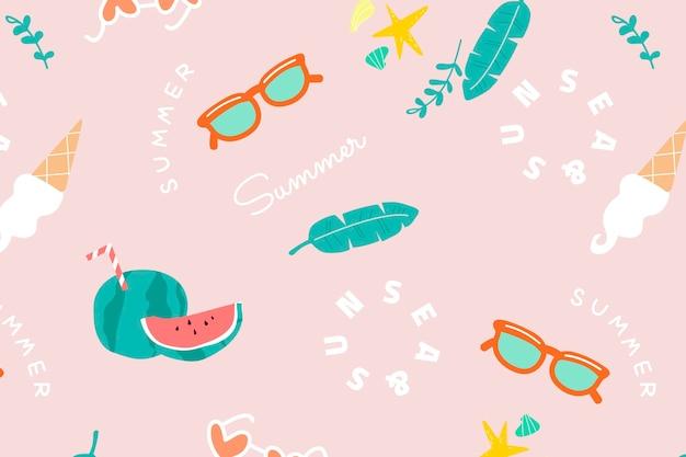 Melão de verão frutado rosa