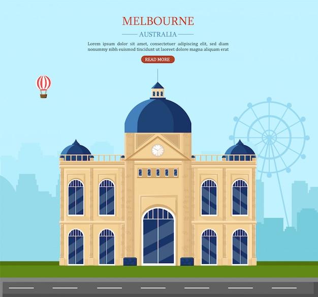 Melbourne marcos históricos na austrália