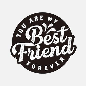 Melhor amigo para sempre etiqueta